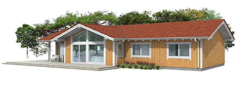 Contemporary house plans affordable small house plan ch128 for Affordable contemporary home plans