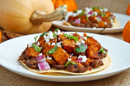 Butternut Squash and Chorizo Tostadas