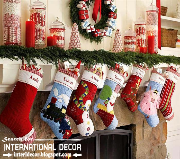 best Christmas decorating ideas for fireplace 2015 with boots