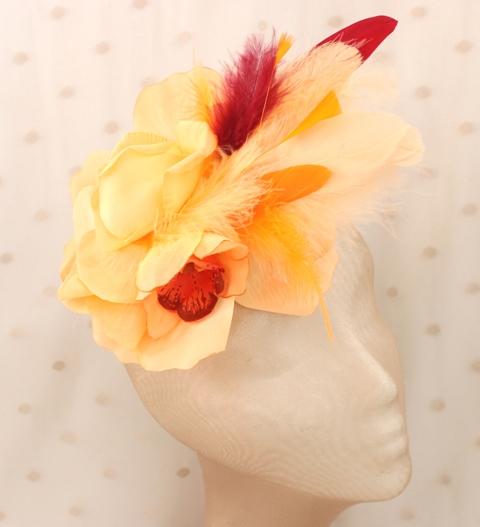 Colección Comemeriendas - Tocado Bouquet naranja