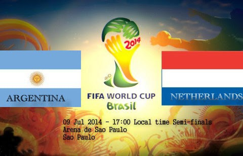 Netherlands vs. Argentina live 2014 FIFA WORLD CUP Semi-finals