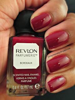 revlon parfumerie, bordeaux, scented, nail polish, swatch