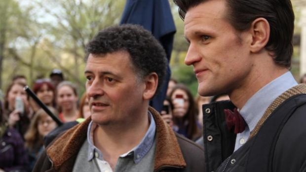 Steven Moffat y Matt Smith de 'Doctor Who'
