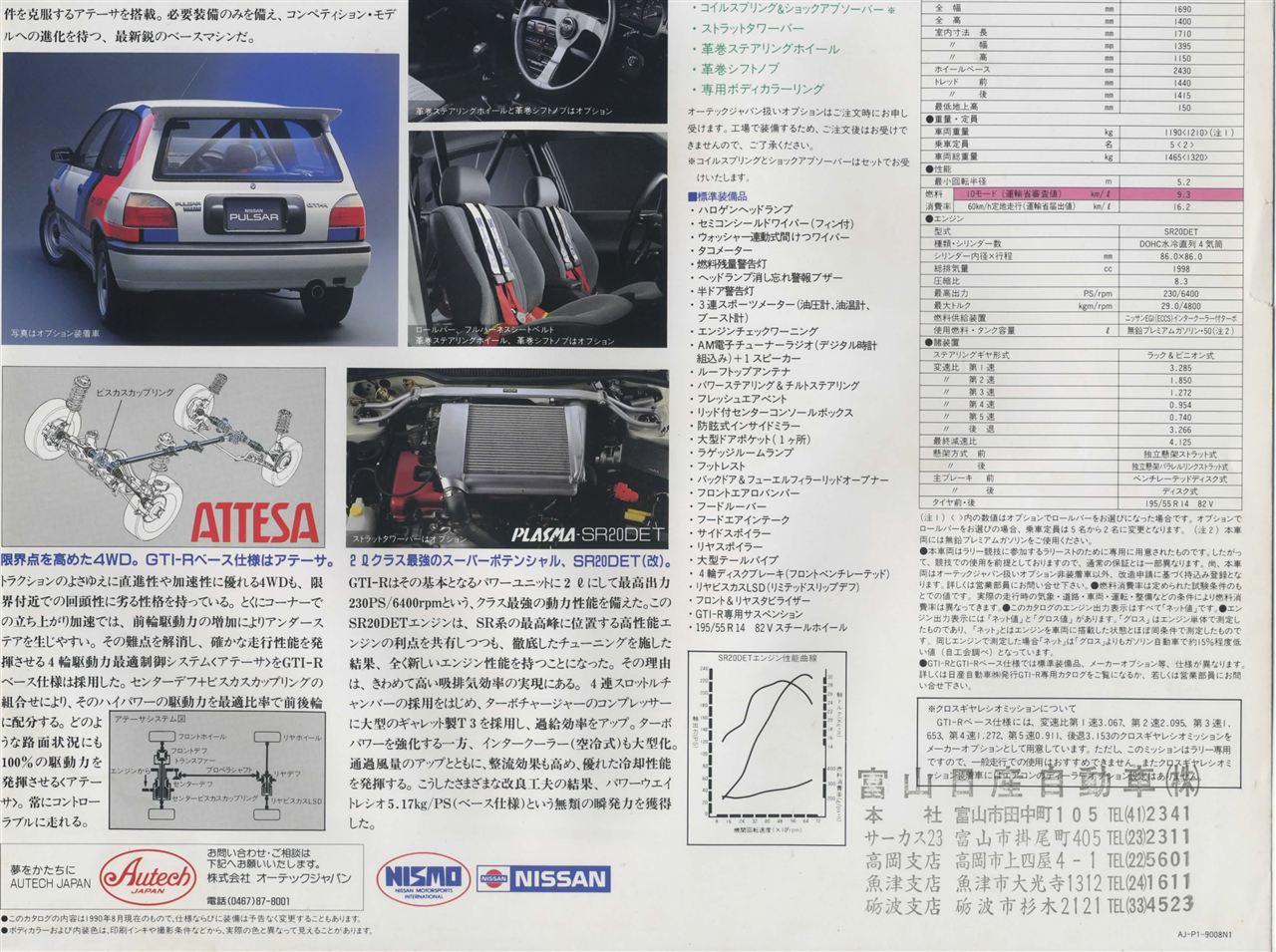 Nissan Pulsar Sunny GTi-R N14 日産 日本車 ホットハッチ スポーツカー NISMO