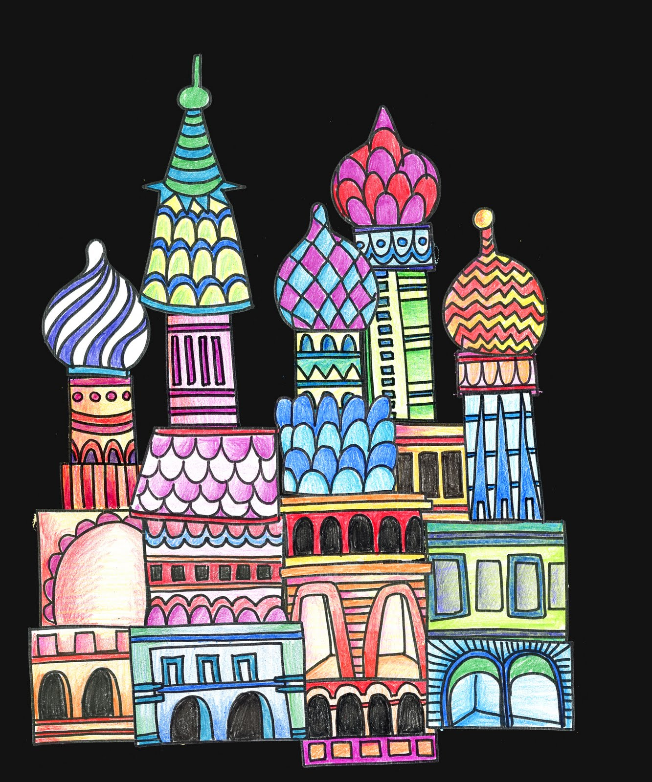 alphabetty monster st basil cathedral printable project