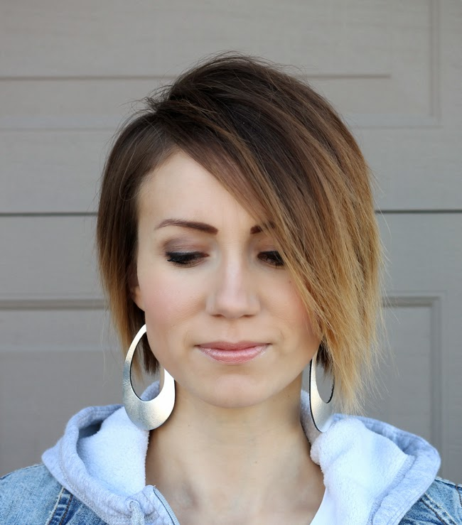 Asymetrical long pixie cut- ONE little MOMMA
