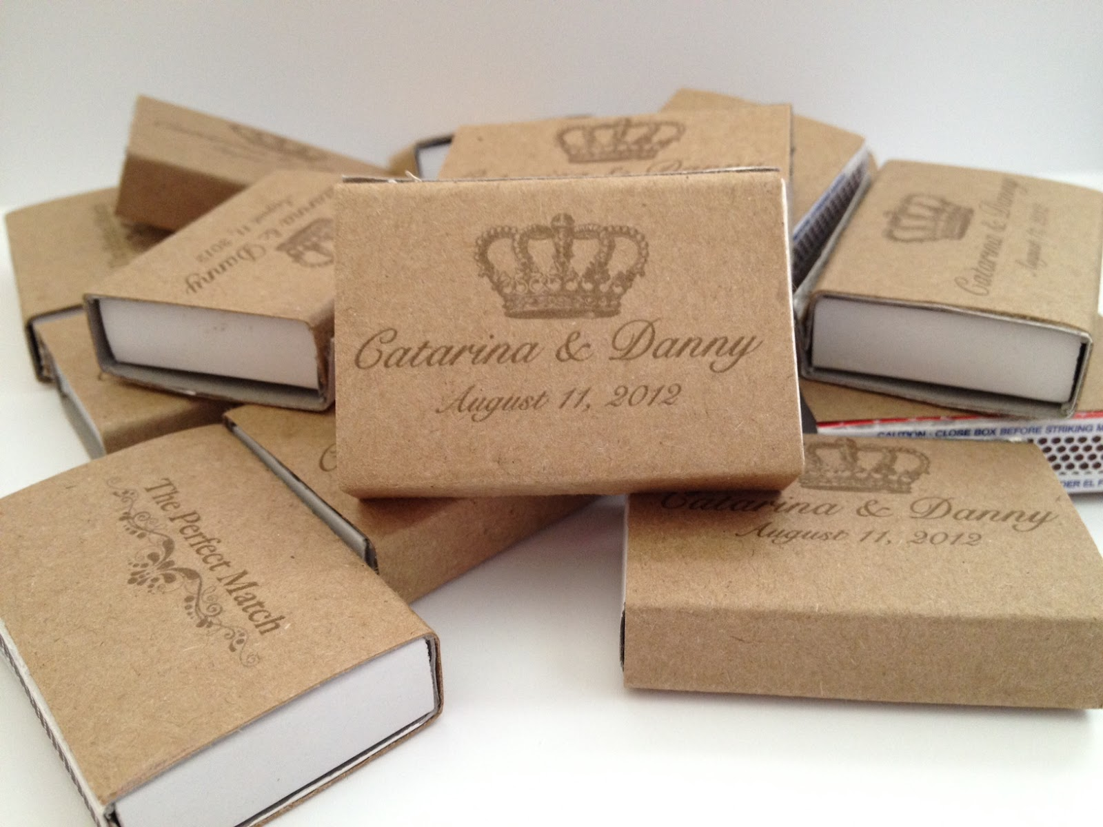 Wedding Personalized Matchbooks wedding post 13 personalized matchboxes