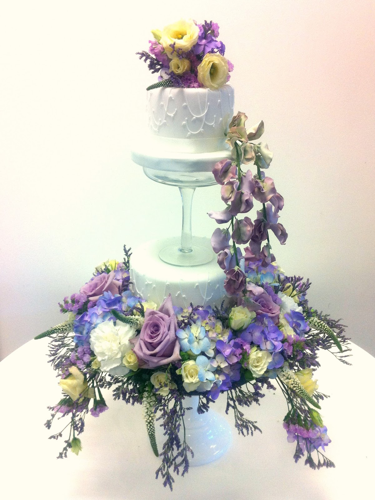 Cherie Kelly's Tiered Cake with Fresh Flower