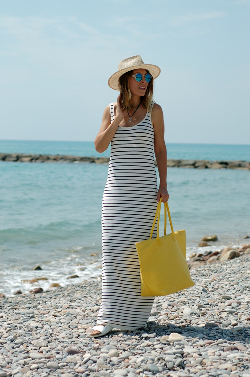 long dress beach day Natura