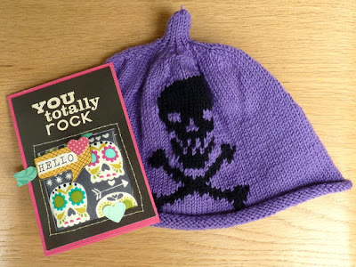 Whoopidooings: Skully hat & card by Sian Fair