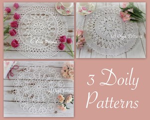 Three Doily Doily Patterns, $8.99