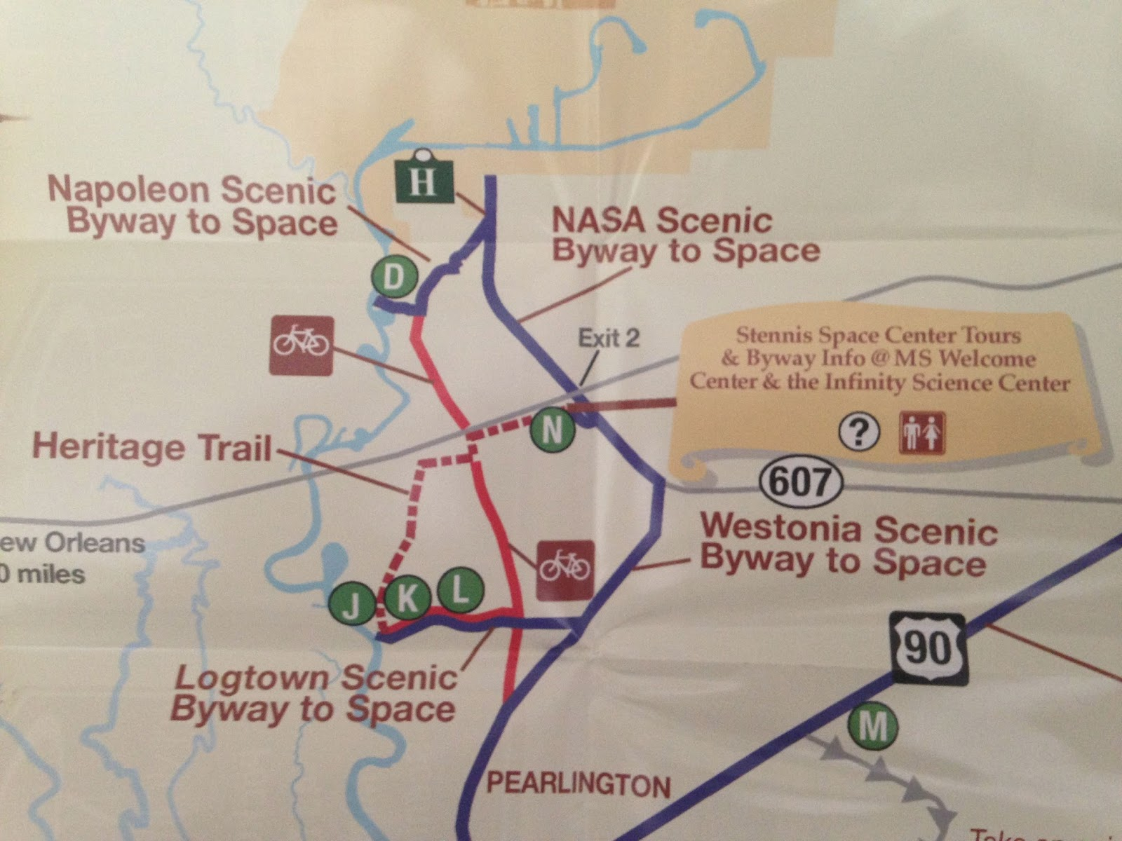 Find Possum Walk Trail at NASA Infinity Space Center