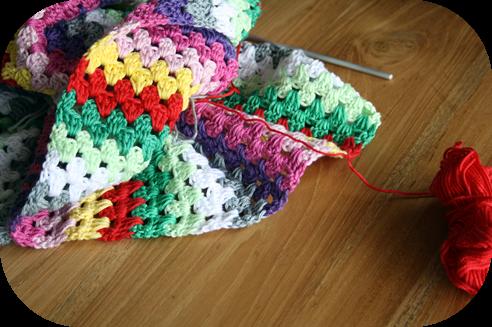 Crochet granny stripe