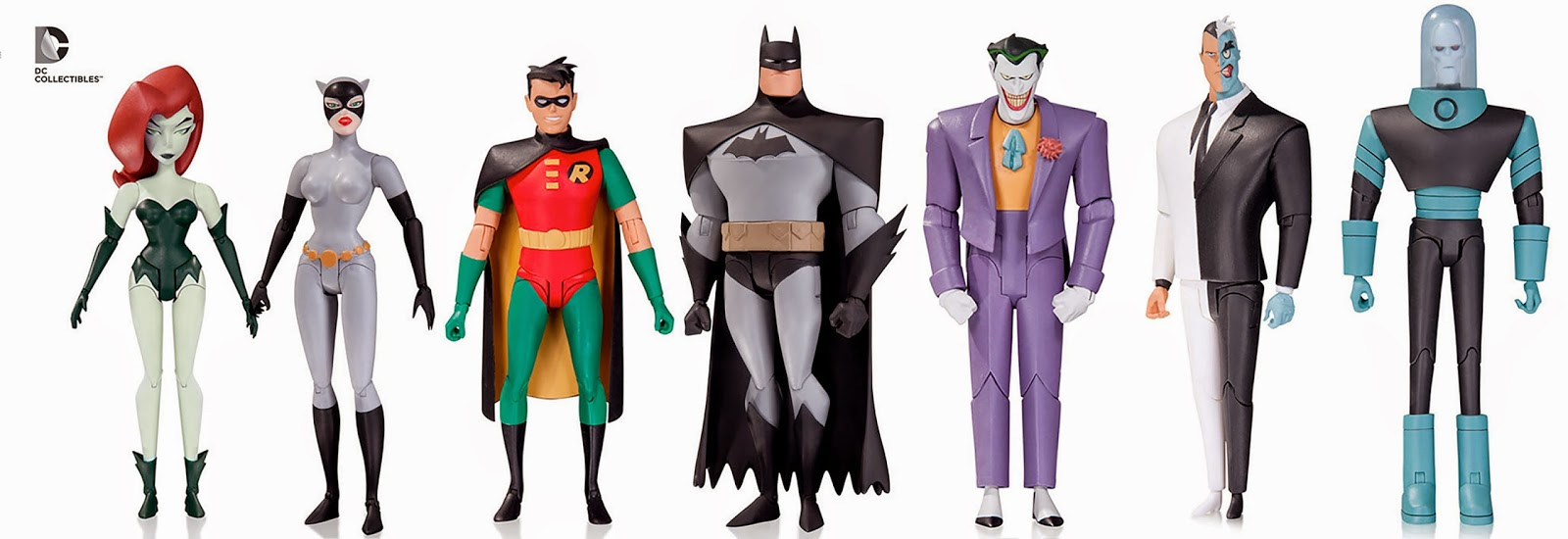 """DC Collectibles has announced the expansion of their 6"""" Animated Batman figures. This looks to be a nice set of figures, especially with DCU dropping out of retail, this is a nice continuation to what could have easily been done by Mattel.    Just today we were introduced to the Joker, Robin, & Poison Ivy. Two Face and Mr Freeze's debut was a few months ago if only in sketches. This brings the total to 7 figures in an already unreleased line-up. Simply amazing. We're sure to see more at SDCC this summer as well.  Who's next?  Superman the Animated Series anyone?  Seeing how these are being handled definitely makes the mind wander. Seeing such a push into a territory with the idea that there will be more lends to the thought that this could be a new era approaching for DCC. Mattel finally bowed out of the 6"""" game for DC characters leaving Marvel Legends to run the toy isles. Meanwhile DCC is putting out some of the best looking figures right now that we may have never come to expect from DCC, Formerly DC Direct. It even looks like we are hijacking Mattel's T Crotch/Hip assemblies anyway.   Points of articulation have been a point of articulation for years in action figure collecting. Do we need it? Does it diminish the look of the figure? What's more valuable, posability or awesome sculpts? Has anyone seen Figma? These people have been doing AWESOME beautiful Japanese characters, and when they get to do familiar pop culture characters, they blow it away!!!   Anyway, I think its been pretty clear that DCC is looking to pick up the slack left behind by Mattel. Could we be stepping into the world where the figures we wanted to see from Mattel will come from DCC in our current scale?  Superman Movie Masters anyone?   Imagine the result of DCC getting behind supplementing our appetites for Mattel product? We finally get a Christopher Reeve retail figure and he's 4"""" tall? or less? No thanks, why is it that Mattel has decided to get out of the 6"""" game? or have they? Will Mo"""