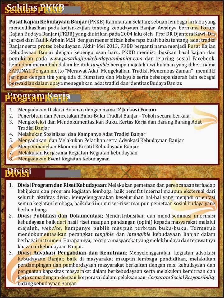 Sekilas PKKB, Program Kerja dan Divisi