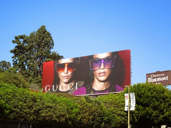 Gucci sunglasses SS 2014 billboard