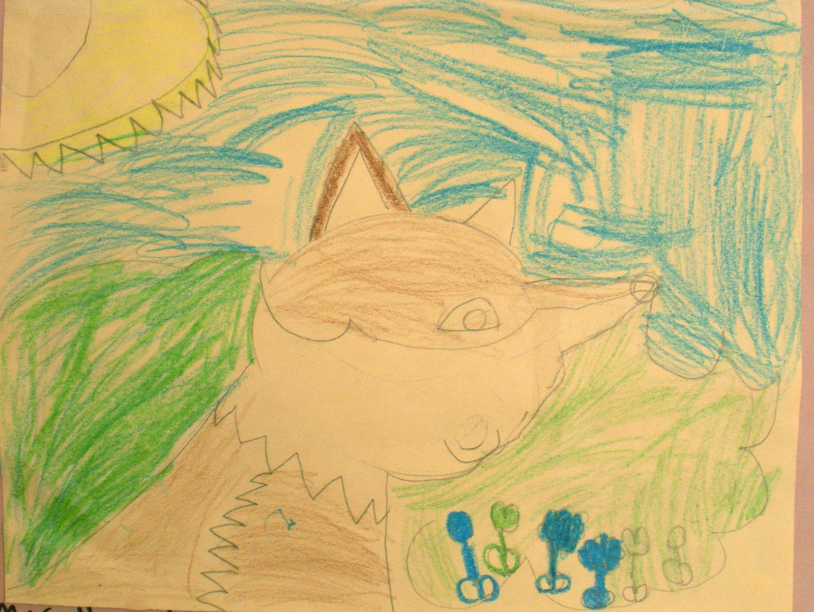 Different Types Of Lines In Art Drawing : South hills elementary art how to draw a fox kindergarten