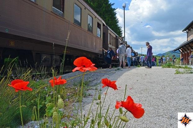 Transiberiana d'Italia, sosta alla stazione di Rivisondoli-Pescocostanzo