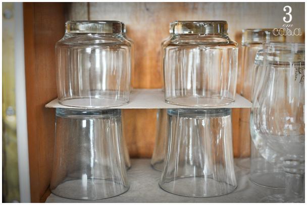 como organizar os copos