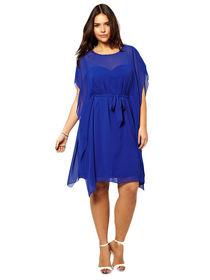 Dress cantik warna biru elegan dan modern
