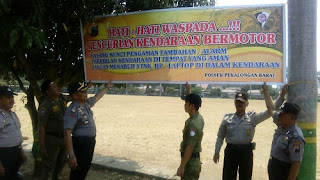Minimalkan Tindak Pencurian Di Lapangan Mataram, Polisi Pasang Sepanduk Peringatan