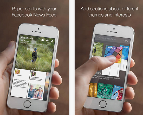Facebook Paper disponibile per l'Italia