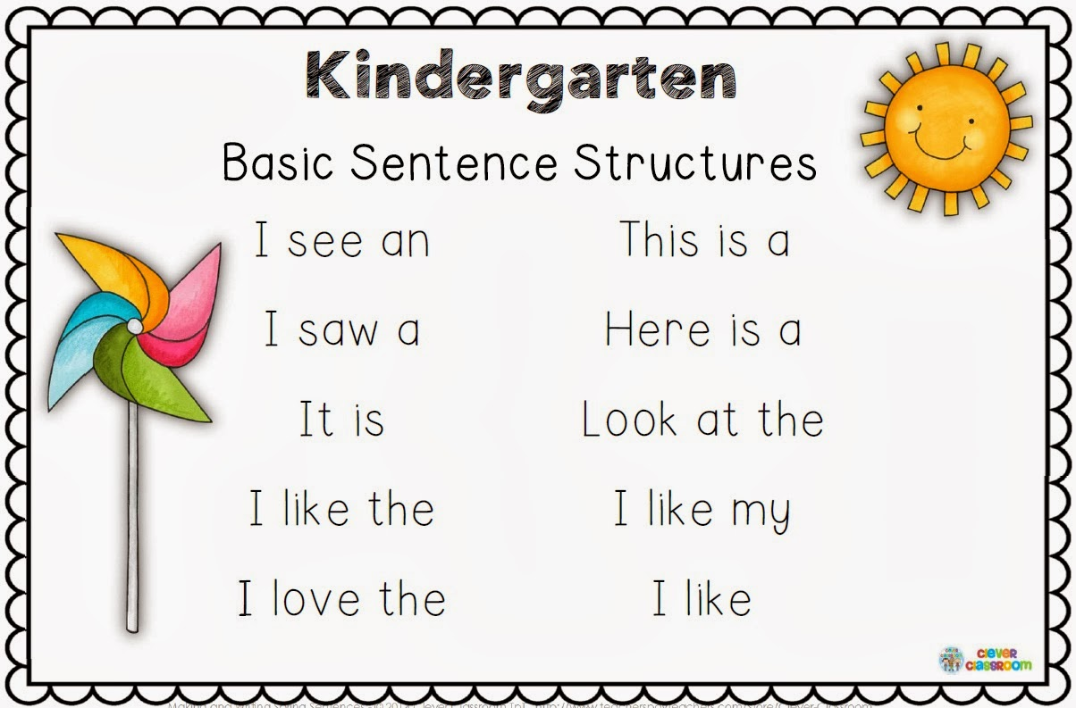 Kindergarten Sentence Writing Worksheets – Kindergarten Sentence Worksheets