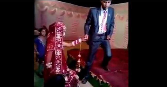 فيديو موقف محرج لعريس خلال مراسم زفافه