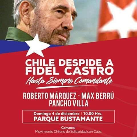 CHILE DESPIDE A FIDEL CASTRO