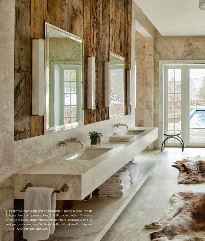 Rustic contemporary interior design on pinterest rustic for Rustic modern bathroom ideas