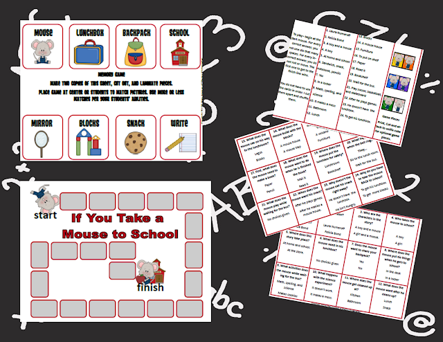 https://www.teacherspayteachers.com/Product/If-You-Take-a-Mouse-to-School-Literacy-Unit-259513