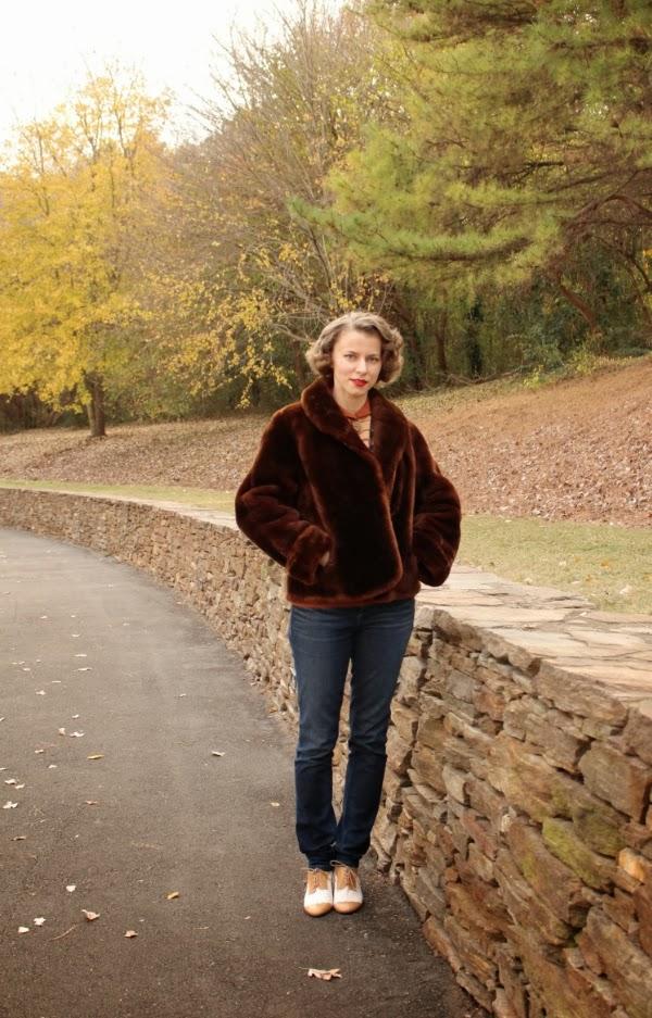 My 1940s Autumn Wonderland #1940s #fashion #40s #winter #coat
