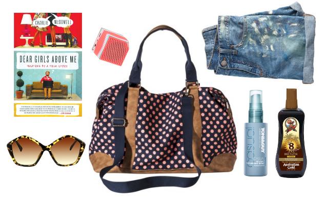 target weekender, what to pack for a summer weekend, getaway, bronzer
