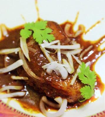 Pork chops in adobo sauce
