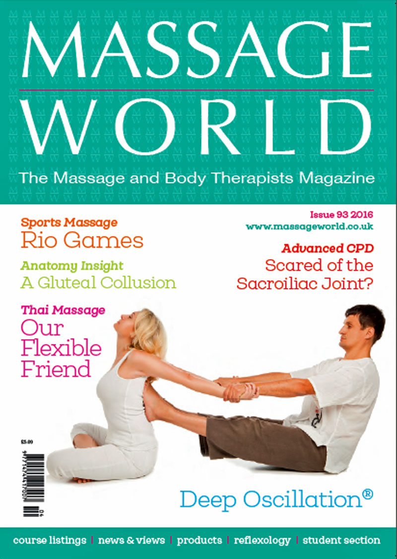Read My Recent Articles<br>Thai Massage: Our Flexible Friend<br>Massage World (UK) Summer 2016