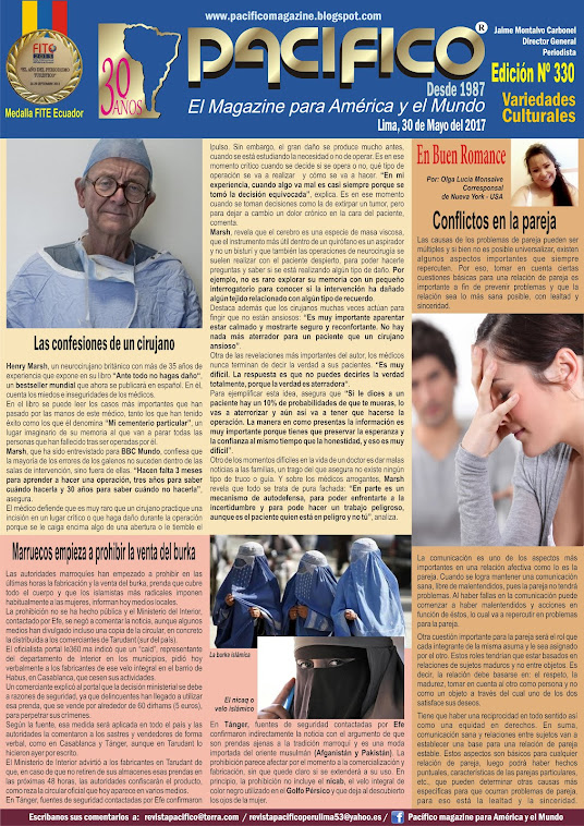 Revista Pacífico Nº 330 Variedades Culturales