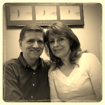 My wonderful husband & me ...