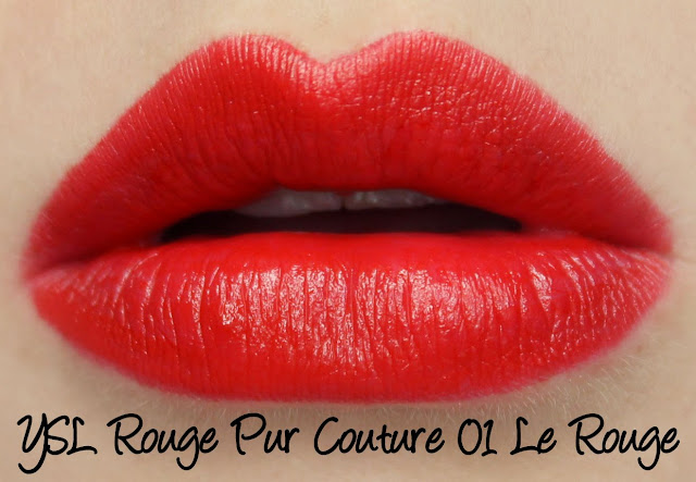 YSL Rouge Pur Couture - 01 Le Rouge Lipstick Swatches & Review
