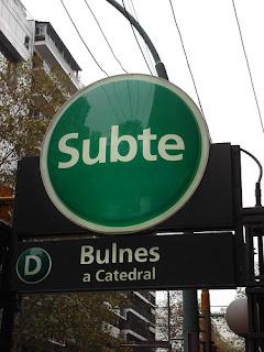 Subte estacion Bulnes