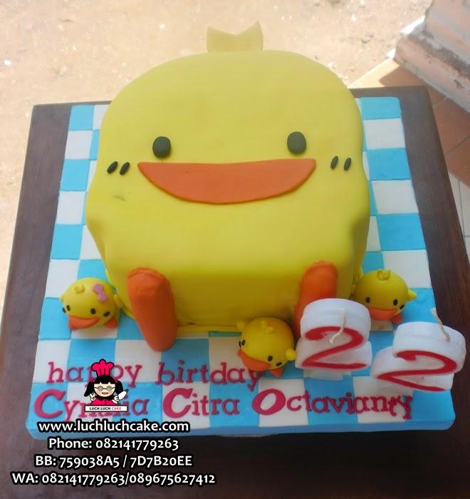 Kue Tart Piyo Piyo 3D Bebek Daerah Surabaya - Sidoarjo