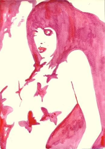 Whoopidooings: Carmen Wing - Butterfly Girl in watercolour