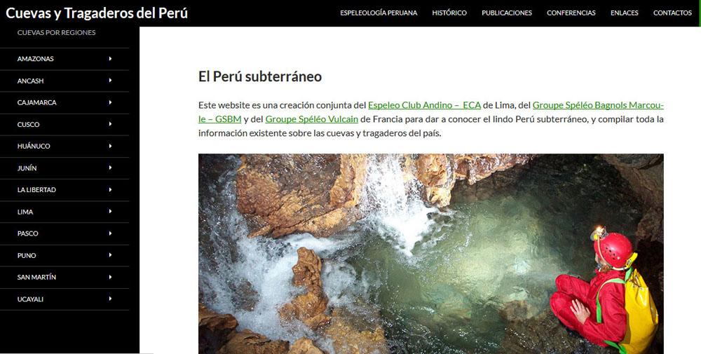 Cuevas y Tragaderos del Perú. CUEVAS POR REGIONES: El Perù subterráneo