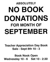 No Book Donations For Month Of September 2018
