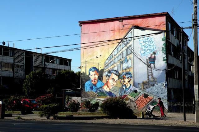 street art santiago de chile san miguel museo abierto arte callejero los prisioneros