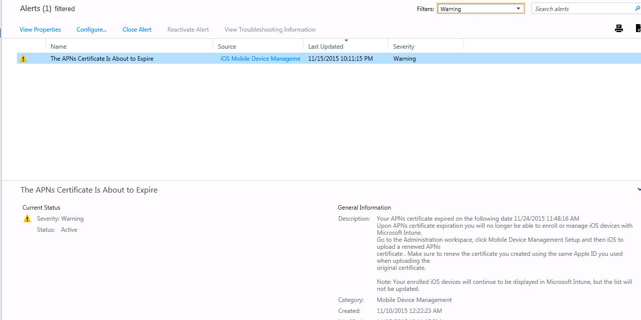 Gerry hampson device management microsoft intune renew apple here we can see the details of the alert click on ios mobile device management to take you to the section where you can fix this 1betcityfo Image collections