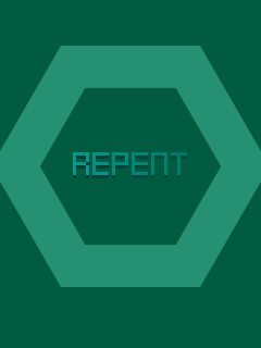 Screenshots of the Repent for java mobile, phone.