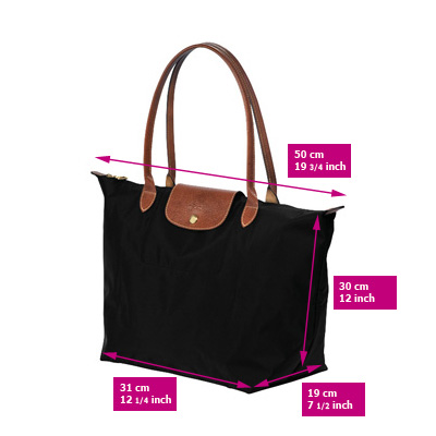 longchamp le pliage sizes longchamp carry on tote. Black Bedroom Furniture Sets. Home Design Ideas