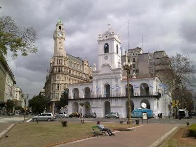 Cabildo en el Barrio de San Nicolás, Buenos Aires, Argentina.