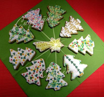 Galletas árboles de navidad