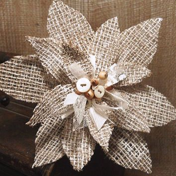 Burlap and lace christmas decorations art craft gift ideas for Burlap christmas decorations to make